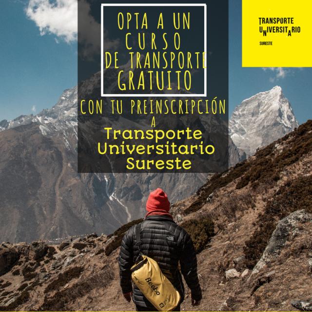 Opta a un año gratuito de transporte universitario